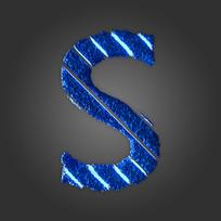 炫酷晶石字母S