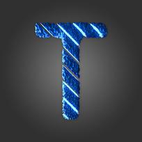 炫酷晶石字母T