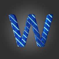 炫酷晶石字母W