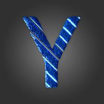 炫酷晶石字母Y