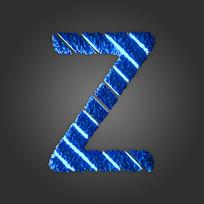 炫酷晶石字母Z