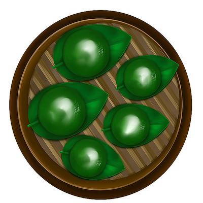 原创清明传统食物青团