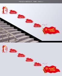 不忘初心牢记使命党员之家党建楼梯文化墙