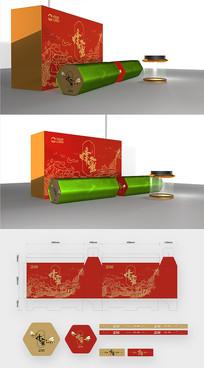 简约红色高档蜂蜜包装设计
