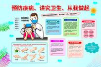 抗击肺炎预防冠状病毒手抄报小报