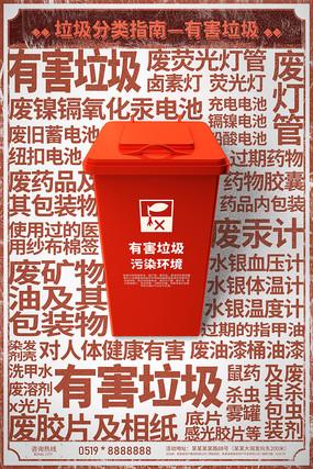 有害垃圾分类海报