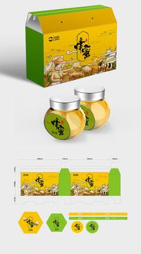原创高端天然蜂蜜礼盒包装设计