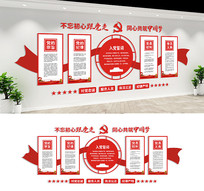 基层社区党建文化墙设计