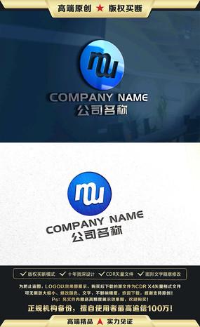 M字母LOGO设计M字母标志商标