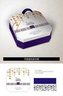 端午节粽子手提礼盒包装设计
