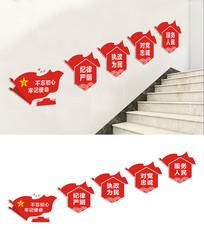 楼梯党建文化宣传标语展板