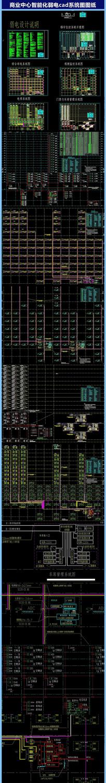 商业中心智能化弱电cad系统图图纸