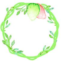 小清新绿色树藤叶子花框边框底纹背景