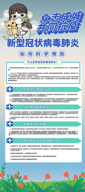 预防新型冠状病毒肺炎展板架