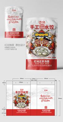 传统美食饺子包装设计模板