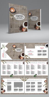 大气咖啡馆菜单设计