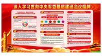 红色大气中央军委基层建设会议展板