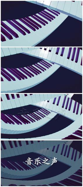 简洁钢琴logo片头视频模板