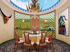 蒙古包餐厅3D模型
