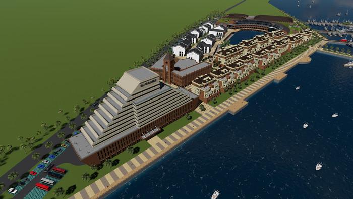 渔人码头街区建筑模型