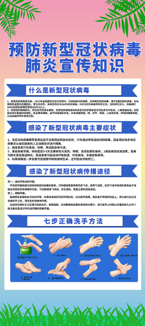 预防新型冠状病毒宣传知识易拉宝