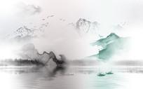 高端江南水乡山水背景墙