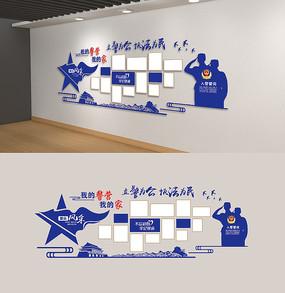 警员之家警营风采墙照片墙雕刻展板