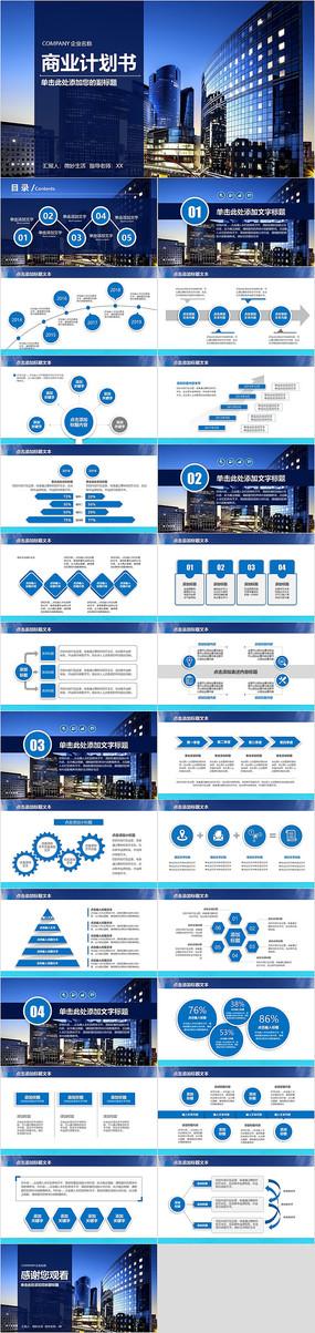 欧美高端大气创业融资商业计划书ppt模板