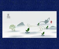 清新水墨茶文化海报设计