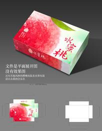 时尚水果礼盒水蜜桃包装设计