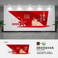 铁血军人部队文化墙