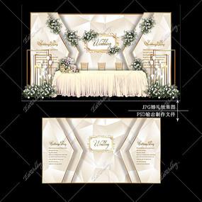 婚礼迎宾区设计
