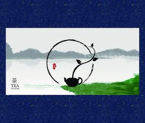 小清新禅茶文化海报设计
