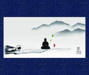 中式禅茶文化海报