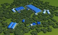 厂房区整体3d模型
