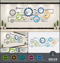 创意工业风企业文化墙