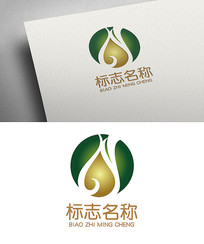创意水滴中医logo设计