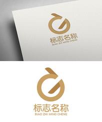 简洁大气GD科技logo设计