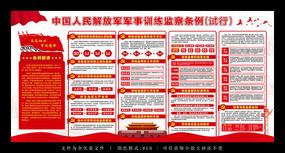 解放军军事训练监察条例展板