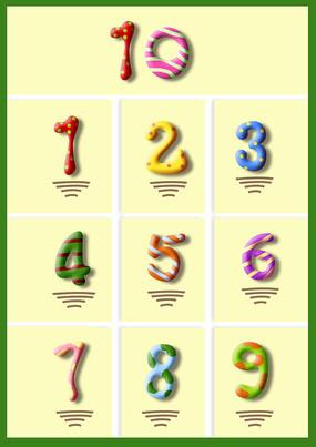 可爱原创儿童幼儿数字字体设计