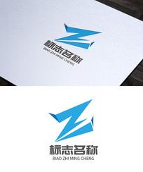 科技互联网创意Z字母logo