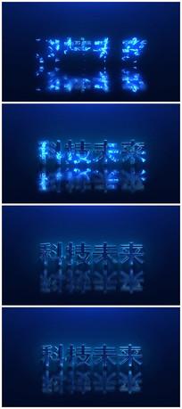 蓝色科技未来AE视频模板