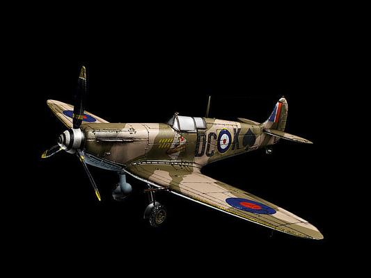 老战斗机模型