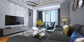 现代客厅 组合沙发3D模型