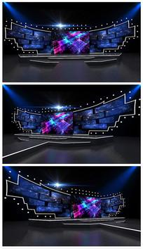 原创炫彩演唱会舞台效果图模型