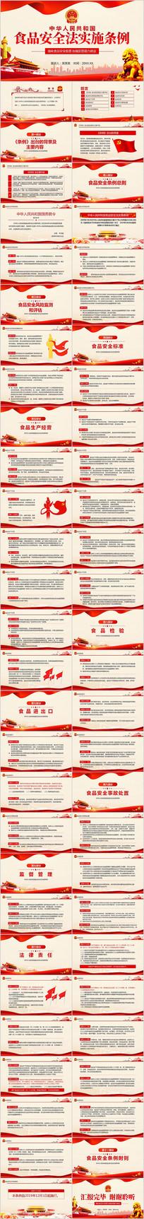 中华人民共和国食品安全法实施条例ppt