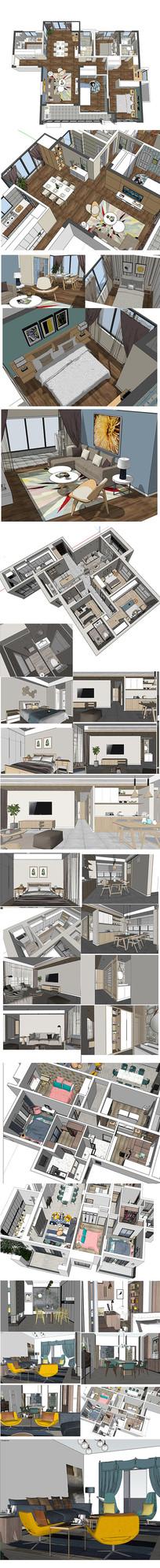 北欧风格家居设计模型
