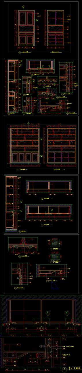 标准书柜鞋柜工艺节点CAD图纸
