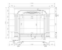 大理石石材CAD设计图纸电视背景墙