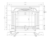 大理石玉石电视背景墙CAD设计图
